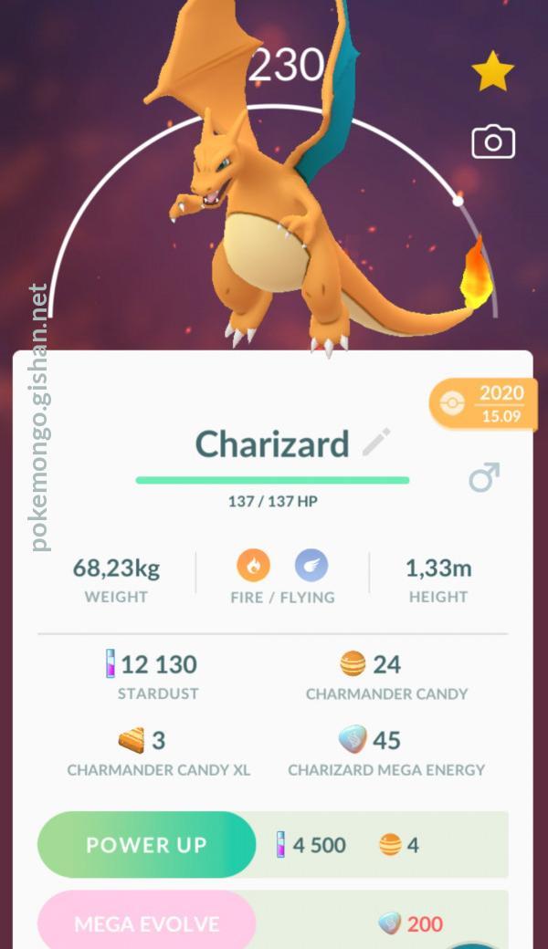 Charizard  Pokemon Go