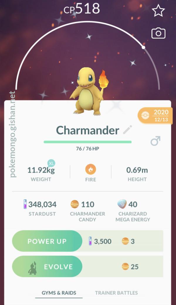 Shiny Charmander Pokemon Go