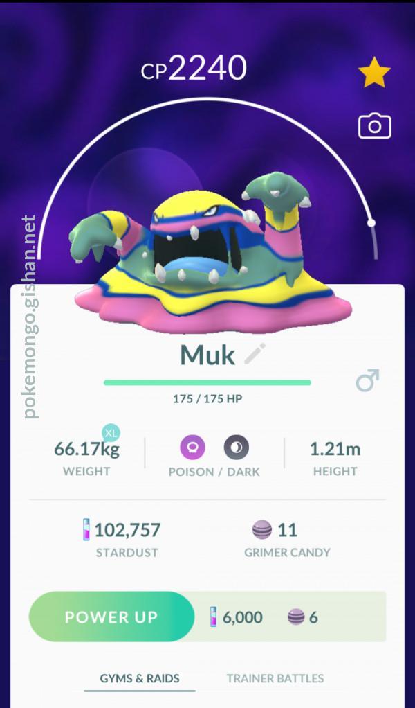 Alolan Muk Pokemon Go