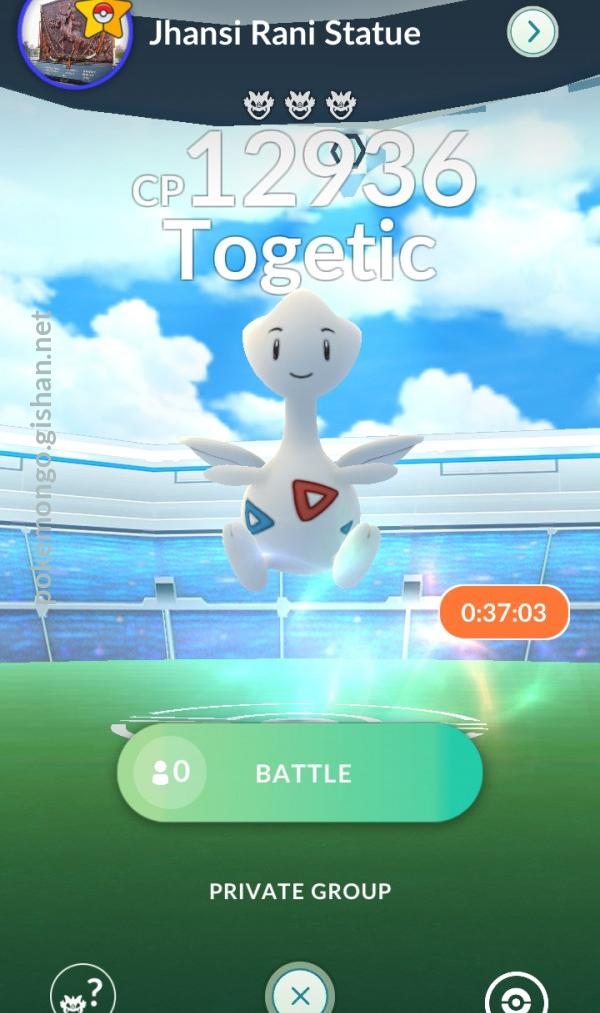 Togetic appeared at a raid in India in April 2021.