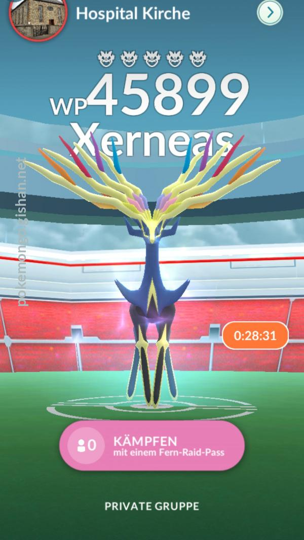 Xerneas appeared at a raid near Grünberg, Germany in May 2021.